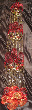 "Christmas Foil Ceiling Decoration 2.7m/10ft x 9"" Round Garland 704"