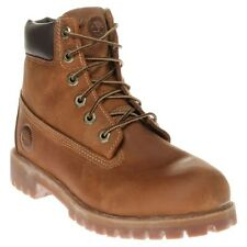 New Boys Timberland Tan Brown 6` Classic Boot Leather Boots Winter Lace Up