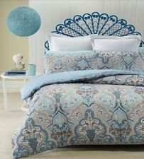 Phase 2 Madras Blue Heat Pressed Quilted Quilt Doona Cover Set DOUBLE QUEEN KING