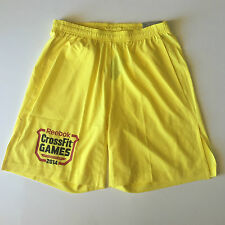 NEW Reebok CrossFit Games 2014 Men's Shorts - Yellow - S M L