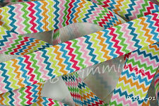 Grosgrain Ribbon Reel Chic Collection 22mm Wide Zig Zag RC019-01