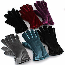 Croft & Barrow Velvet Gloves for Women - One Size - Fashion Winter Thinsulate