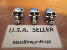 5, 10, or 20 Cool Skull Bead for Knife Key Paracord Zipper Pull Pendant Lanyard