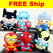 The Avengers Marvel Plush Figure Super Hero Toys Thor Spider-man Stuffed Dolls