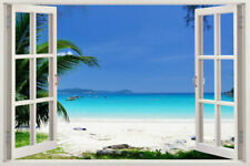 Home Decor Art Decals Removable Stickers Vinyl beach Window Ocean Mural Wall