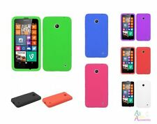 Nokia Lumina 635 Solid Color Soft Rubber Silicone Skin Protector Cover Case
