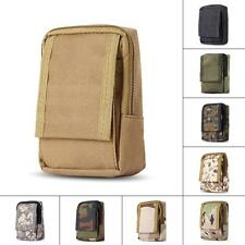 Military Durable Outdoor Investigate Tool Pouch Hook Loop Zippered Bag Small Bag