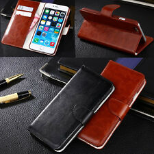 New PU Leather Magnetic Flip Stand Wallet Case Cover For Apple iPhone 6 6 Plus