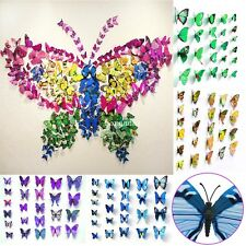 3D Butterfly Wall Stickers Sticker Art Design Decal Home Room Decor Decorations