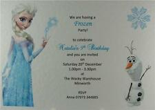 Elsa Frozen Personalised Birthday Party Invitations Or Thank You With Envelopes