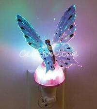 Butterfly Fiber Optic LED Color Changing Christmas Xmas Party Decor Light Lamp