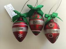 Hallmark Ganz Light Up the Holidays PERSONALIZED ORNAMENT- Names from A to C