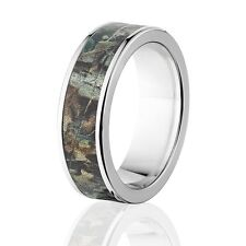 Official Licensed RealTree Camo Rings Timber Pattern, Camo Wedding Bands