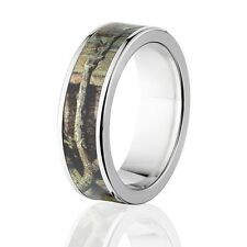 Camo Rings, Mens Camo Wedding Bands, Licensed Mossy Oak Break Up Infinity Rings