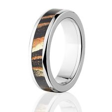 Camo Rings, Mens Camo Wedding Bands, Licensed Mossy Oak Shadow Grass Rings