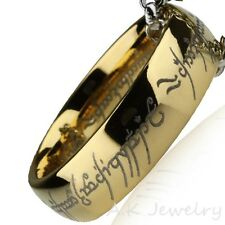 Plated Tungsten Carbide Ring With Popcorn Chain The Lord