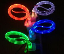 1pcs 1M LED Light USB DataSync Charger Charging Cable Line Cord for iPhone6/Plus