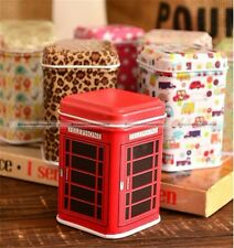 Mini Small Metal Square Candy Trinket Coin Storage Tin Jewelry Iron Pill Box