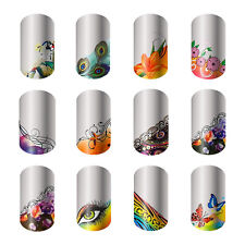 Beatiful Nail Art Decals Half Wraps French Manicure Water Transfer Stickers