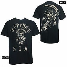 Licensed SONS OF ANARCHY Support SOA Reaper Samcro T-Shirt S-3XL NEW
