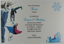 10 Frozen Personalised Birthday Party Invitations Or Thank You Elsa Olaf Anna