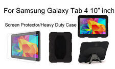 Heavy Duty Shock Proof case/Screen Protector For Samsung Galaxy Tab 4 10.1""