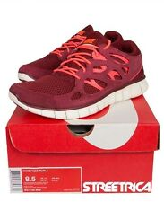 Nike Free Run +2 537383-606 (Team Red) New Authentic Running Shoes Mens