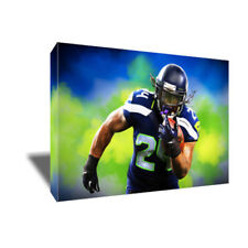 MARSHAWN LYNCH Beast Mode Seattle Seahawks photo poster CANVAS ART Painting