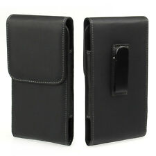 Black Belt Clip Holster Leather Pouch Case For Samsung Galaxy Note 3/4 Mega 5.8