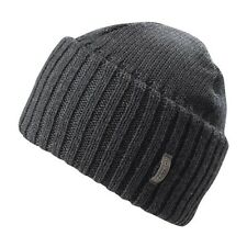 "NWT Stetson Men's Merino WOOL ""Kelton"" BEANIE Hat Brown Gray Winter Cuff Cap"