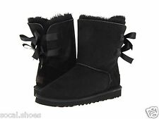 UGG AUSTRALIA WOMEN'S SHOES BAILEY BOW BLACK 1002954 GENUINE BOOTS NEW UGG SALE