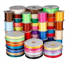"""50 YARDS DOUBLE FACED Sided SATIN RIBBON 1/8""""~1.5"""" width various Colours u pick"""