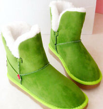 SH317 Green Tinkerbell Boots Costume custom made women adult Winter Snow Warm