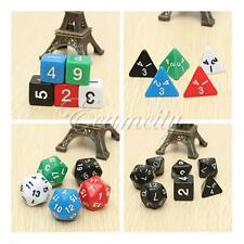 Games Dice Set 7 Sided Die D4 to D20 DUNGEONS&DRAGONS RPG Dice Game Heptad D&D