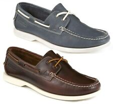 MENS CLARKS MUSTO MAHOGANY,NAVY LEATHER LACE UP DECK STYLE BOAT SHOES NAUTIC BAY