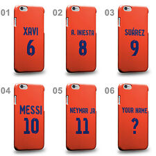 Personalised Customized Barcelona Soccer Team Away Jersey Hard Phone Case Cover