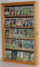 Sport Trading Card Display Case Wall Frame Wood Box NFL NBA MLB Cards- CC01