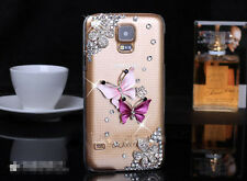 Bling Crystal Luxury Butterfly Hard Case For Samsung Galaxy S4 S5 Note 3 Note 4