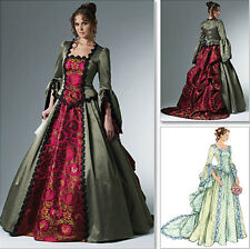 Victorian Gown Wedding Dress Costume SEW PATTERN Steampunk McCalls 6097 Sz 6-20
