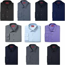 Alfani Dress Shirt Mens Slim Fit Stretch Fabric Long Sleeve Fitted Button Front