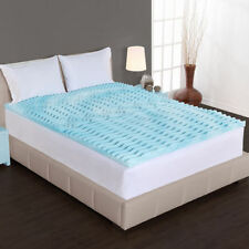 Gel Memory Foam 3 Inch Mattress Topper Five Zone Firm Orthopedic Bed Cover Pad