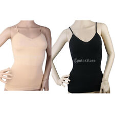 CAMISOLE BODY SHAPER - Tummy Waist Control Slimming Cami Tank Top Seamless Vest