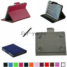 "Colorful Folio Claw Grip PU Case+Pen For 10.1"" Proscan PLT1066G/T15A Tablet PC"