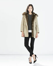 ZARA  PARKA WITH HOOD NEW COLLECTION 2014-2015