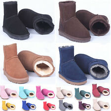 New Men Lady Top Quality Shoes Winter Warm Real Leather Classic Short Snow Boots