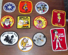 VINTAGE EMBROIDERED PATCHES, FUNNY, HIPPIE, 70'S