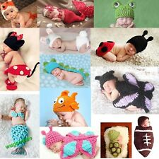 Baby Girls Boy Newborn-9M Knit Crochet Mermaid Minnie Clothes Photo Prop Outfits