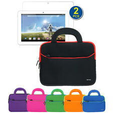 Neoprene Zipper Handle Pouch Case Cover+2pc LCD For Acer ICONIA Tab 10 A3-A20