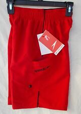 New  Boy's Polyester lined Speedo Cargo Marina Volley Swim Short - Red Bluff