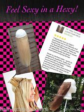"18"" SECRET MIRACLE WIRE HUMAN REMY HALO HAIR EXTENSIONS 100G+ THICK FULL HEAD"